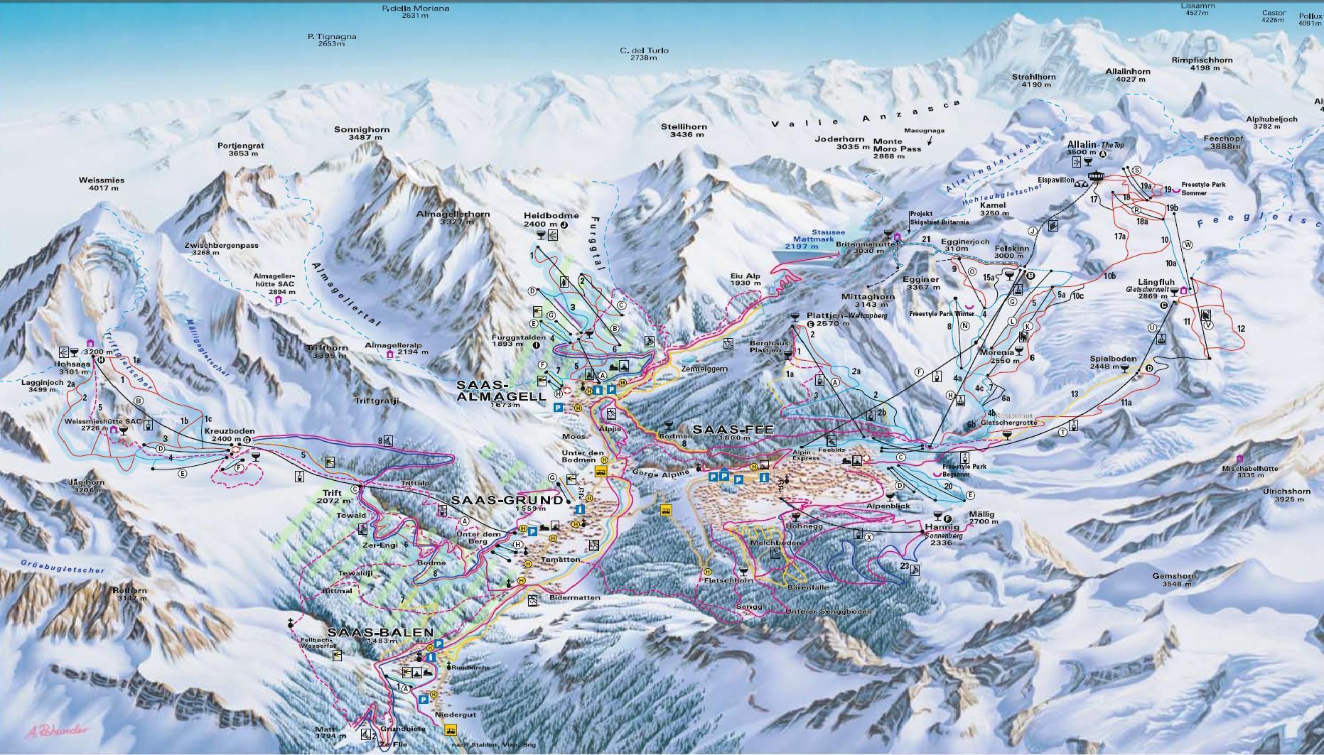 Piste Maps To Monterosa
